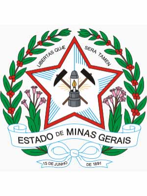 Brasão do estado do MINAS GERAIS - MG