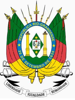 Brasão do estado do RIO GRANDE DO SUL - RS