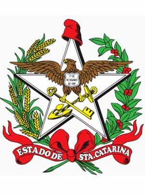 Brasão do estado do SANTA CATARINA - SC